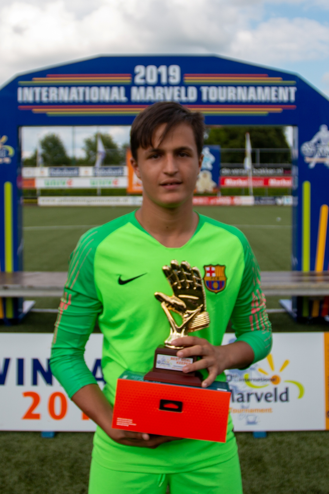 Marveld Tournament 2019 - Best Goalkeeper Antonio Gomez Del Castillo of FC Barcelona