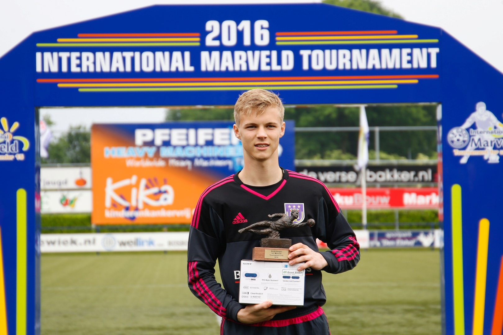 Marveld Tournament 2016 - Best Goalkeeper Maxime Delanghe of RSC Anderlecht