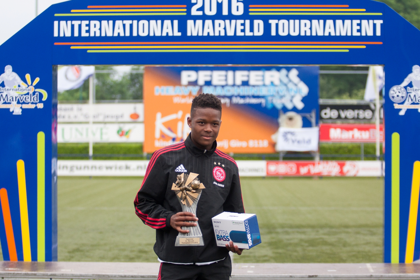 Marveld Tournament 2016 - Topscorer Daishawn Redan of Ajax