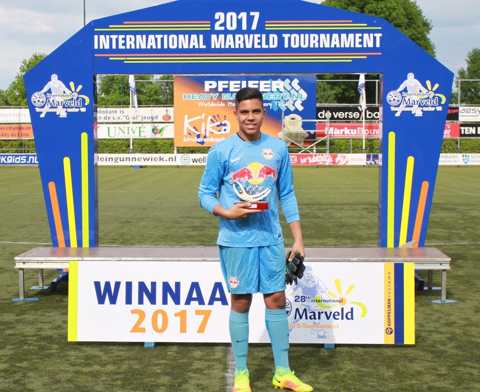 Marveld Tournament 2017 - Best Goalkeeper Guilherme Patrick Tavarez of Red Bull Brasil
