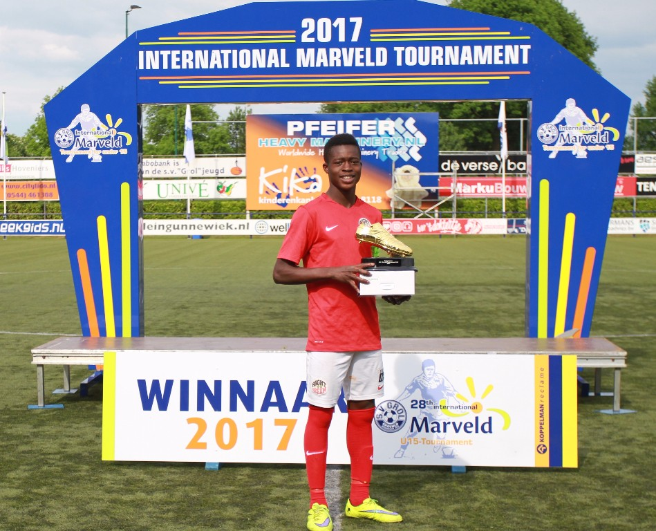 Marveld Tournament 2017 - Best Player Kamal Deen Sulemana of Right To Dream Ghana
