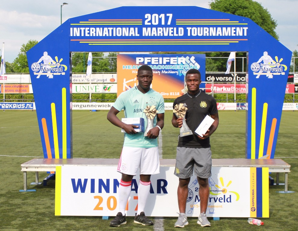 Marveld Tournament 2017 - Topscorers Brian Brobbey and Chris Kalulika
