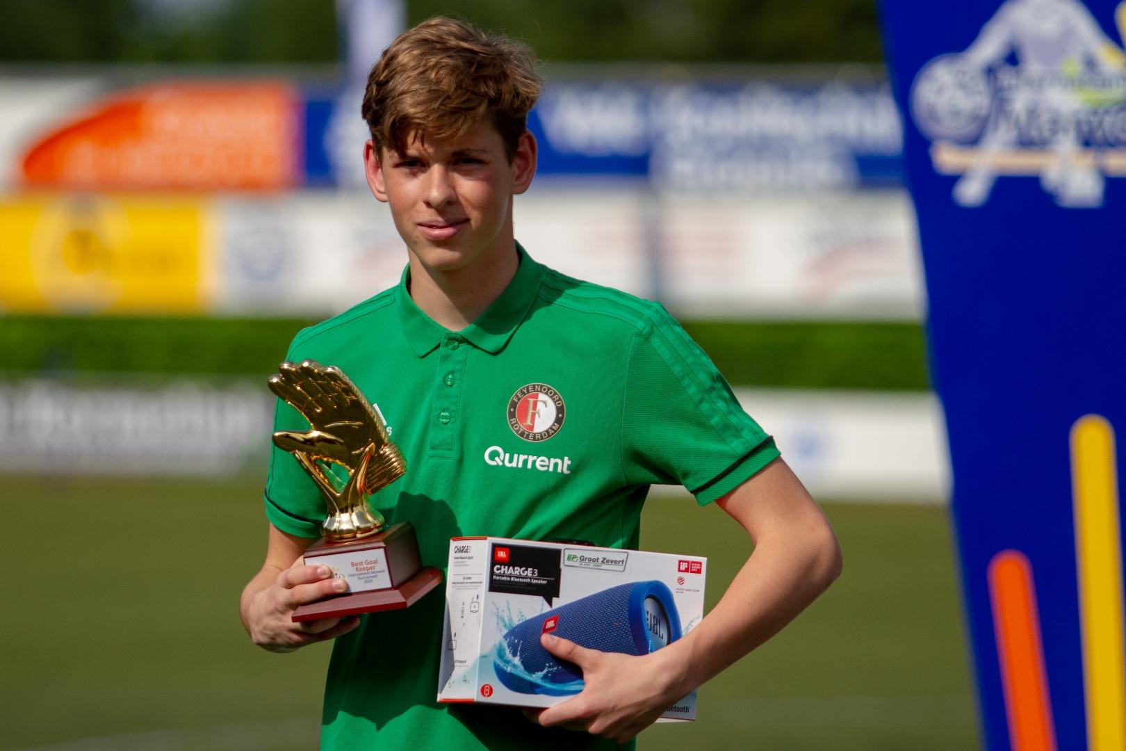 Marveld Tournament 2018 - Best Goalkeeper Devin Remie of Feyenoord
