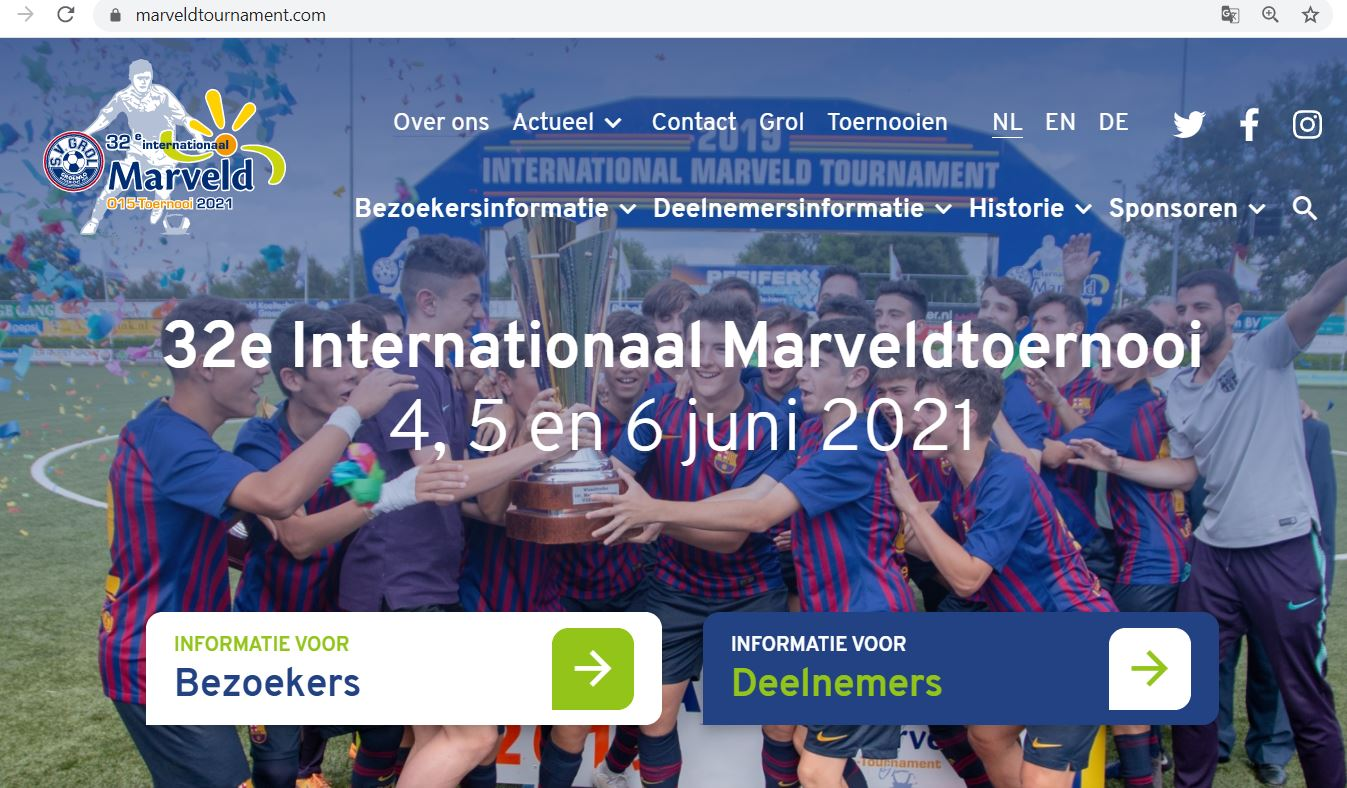 Marveld Tournament - New Website