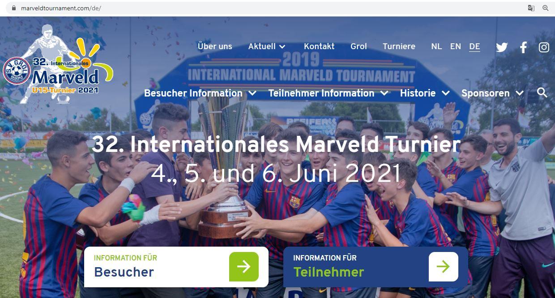 Marveld Turnier - Neue Webseite