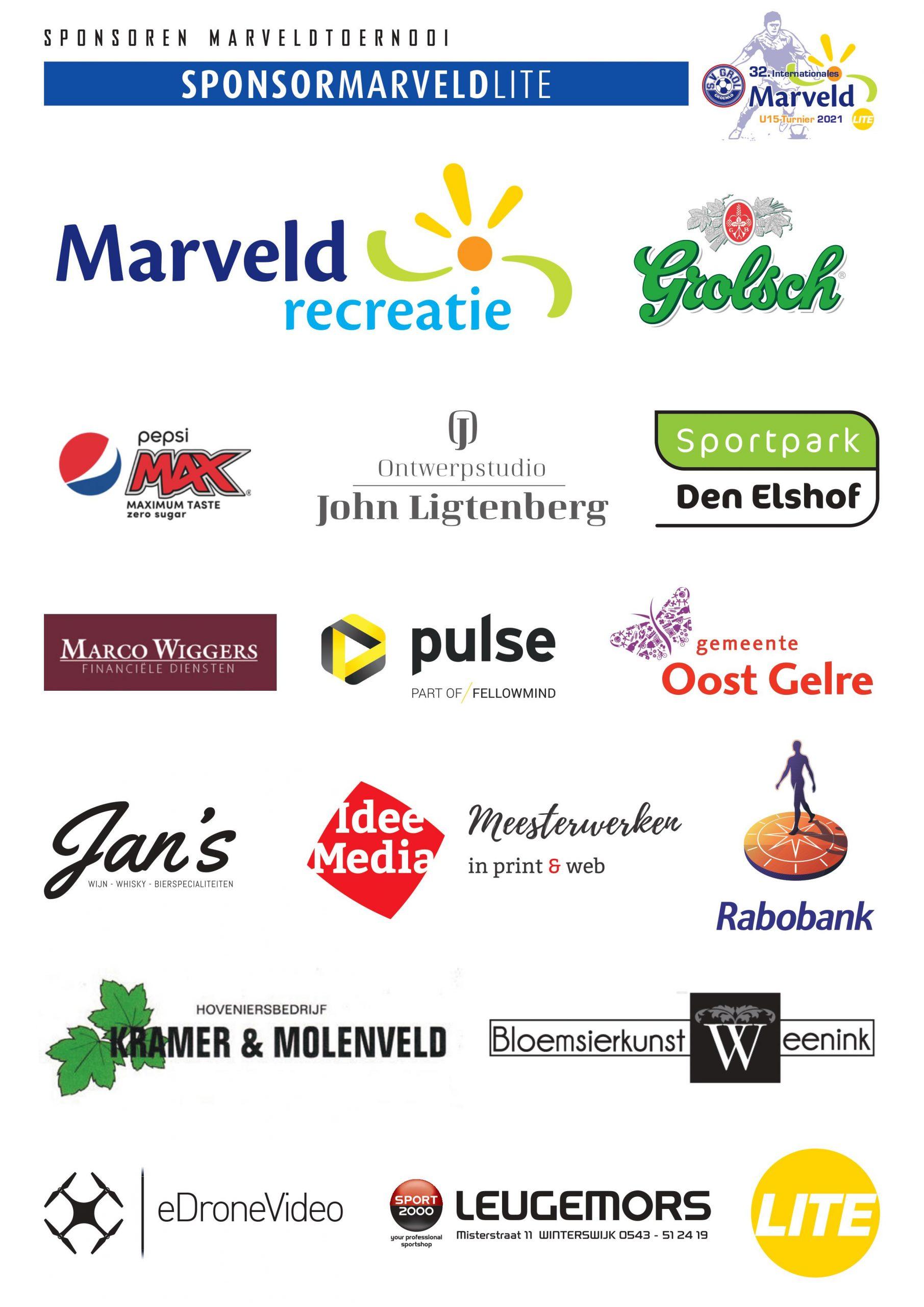 Marveld Tournament LITE 2021 - Sponsors